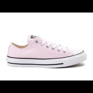 Brand new, never worn pink Chuck Taylors in box